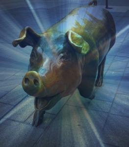 random bronze pig