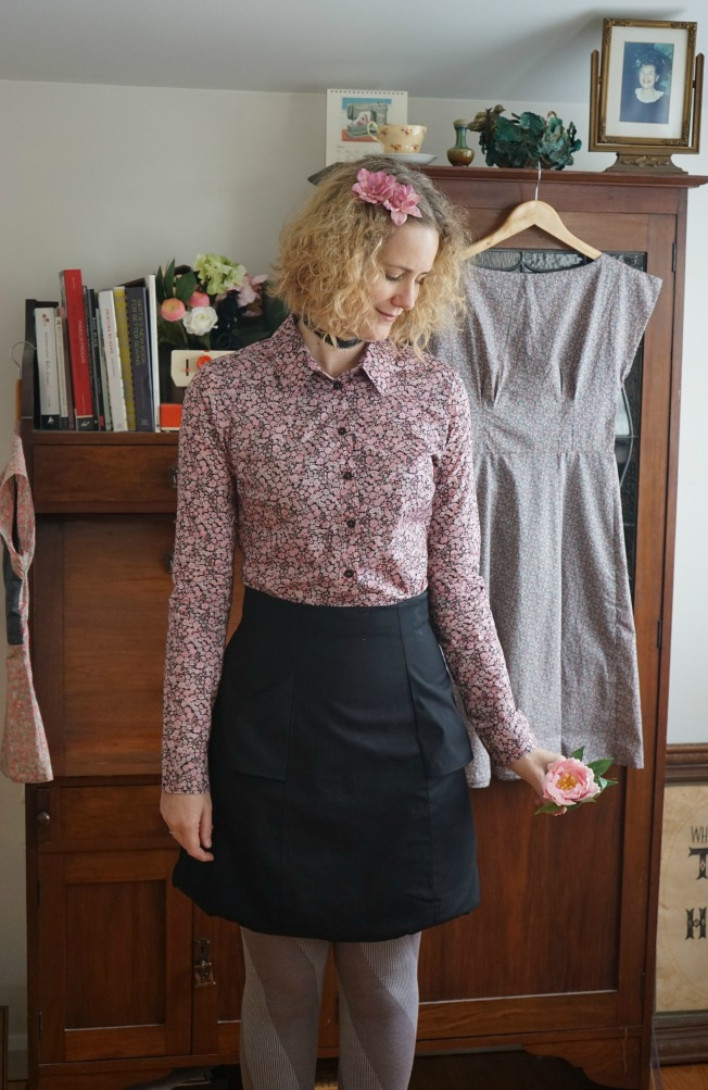 Vintage Liberty Grainville and Viscose Anenome