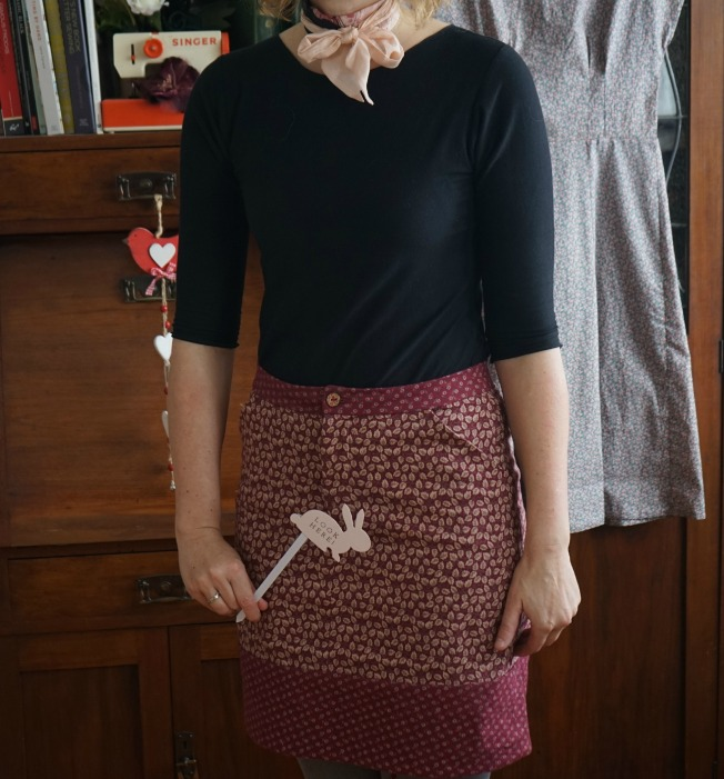 Vintage Corduroy Moss Skirt - Pattern Placement Outtake!
