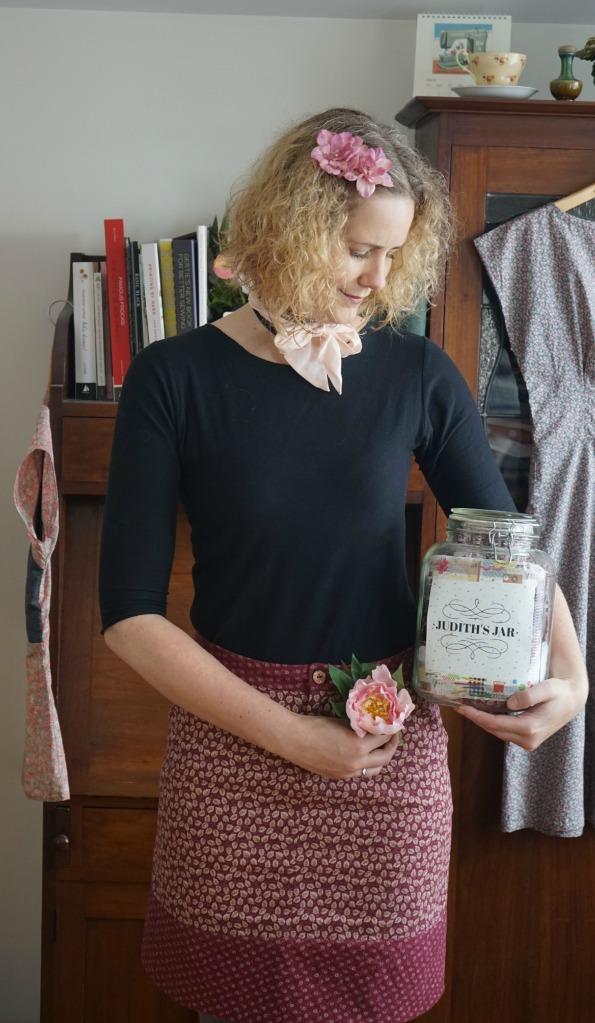 Vintage Corduroy Moss Skirt