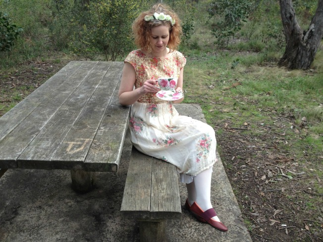 Vintage Anna Dress - Russian Tea Leaf Reading