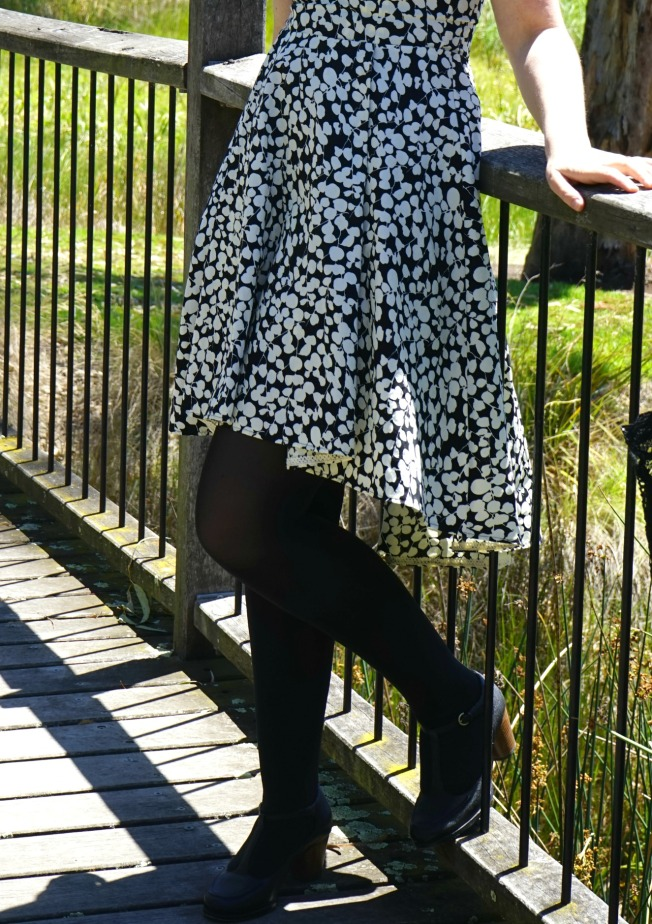 Black and White - Hemline Finished with Lace